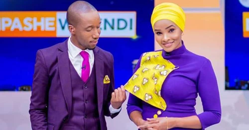 Lulu Hassan, Rashid Abdalla share jinx moment on live TV.
