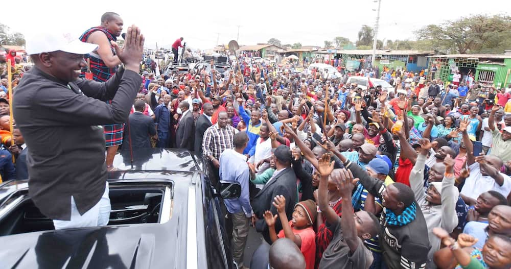 Ruto told off his competitors boasting of having the deep state, godfathers and the system who might be planning to challenge his presidency quest saying he has God by his side. Photo: William Ruto.