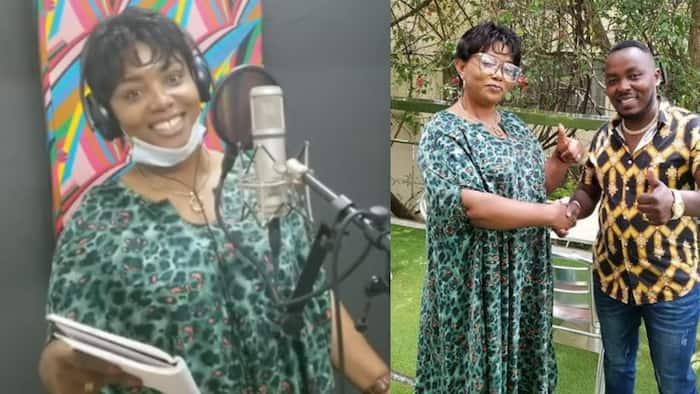 "Christina Shusho Perfectly Sings in Kikuyu while in Kenyan Studio: ""Nilijaribu"""