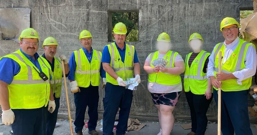 Garbage crew locates KSh 2.7 million.