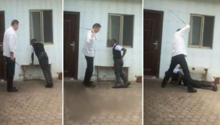 Chinese hotel manager captured on camera caning Kenyan employee for being late