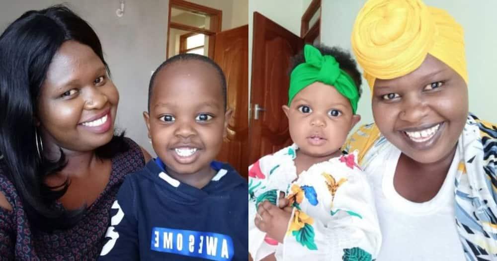 Jemutai and her kids.