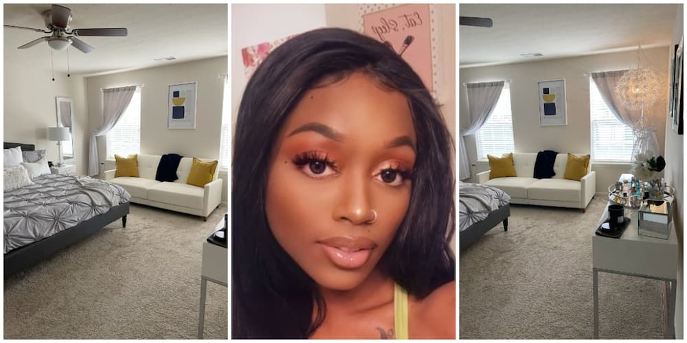 Young Lady Shows Off Her Tasteful Room That Is Like a 5 Star Hotel, Photos Cause Huge Stir on Social Media