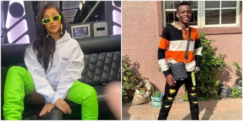 I love you more - American rapper Cardi B replies young Nigerian fan