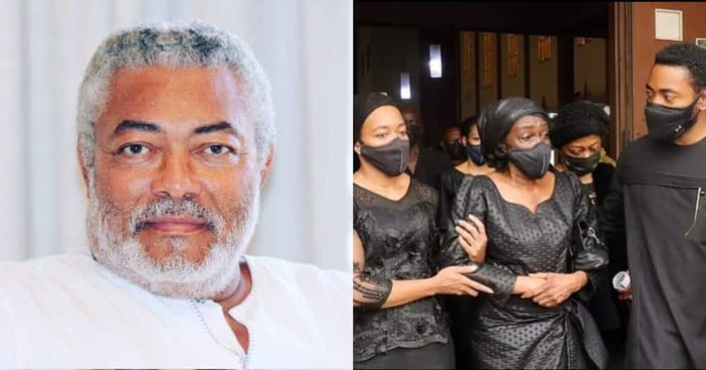 Photos of late former president JJ Rawlings's simple casket pop up online