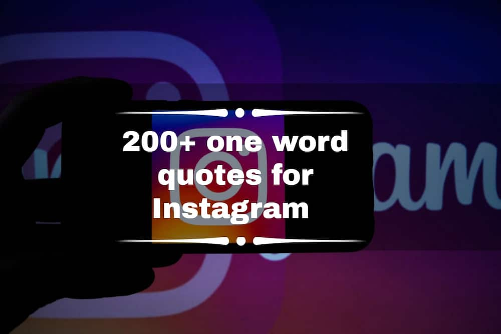 One word quotes for Instagram