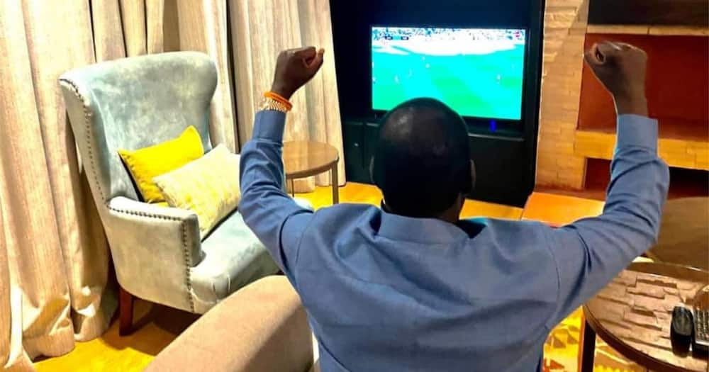 Raila revealed in an earlier interview that he was a Manchester United fan first but switched to Arsenal and has never looked back.