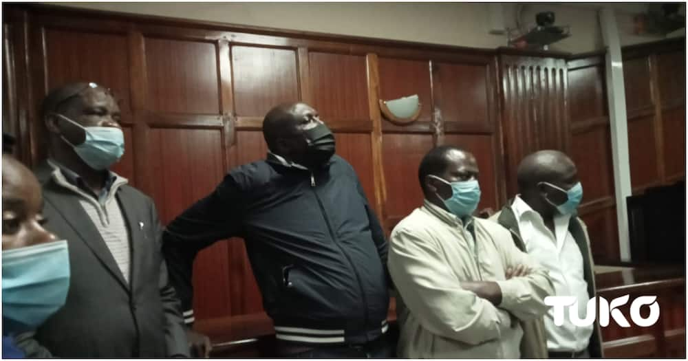 The accused four appearing before Nairobi Chief Magistrate Martha Mutuku