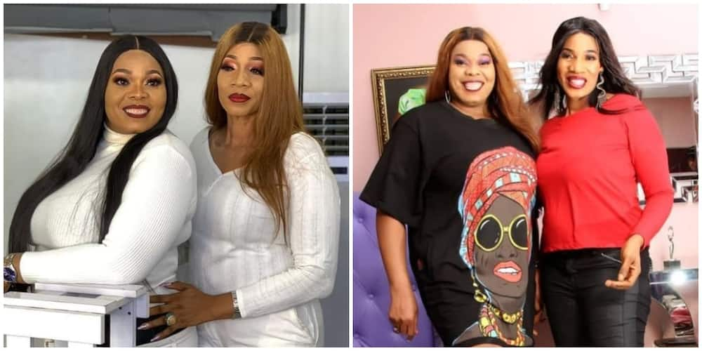 Nollywood actress Chinyere Wilfred and twin sister celebrate birthday with beautiful photo