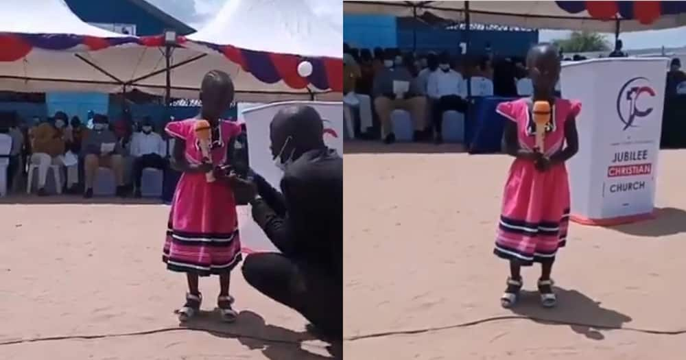 God's angel: Turkana girl moves crowd with melodious voice during church event