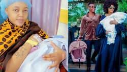 Harmonize's Ex-Girlfriend Wolper Stylish and New Lover Share Photos of Their Newborn Son