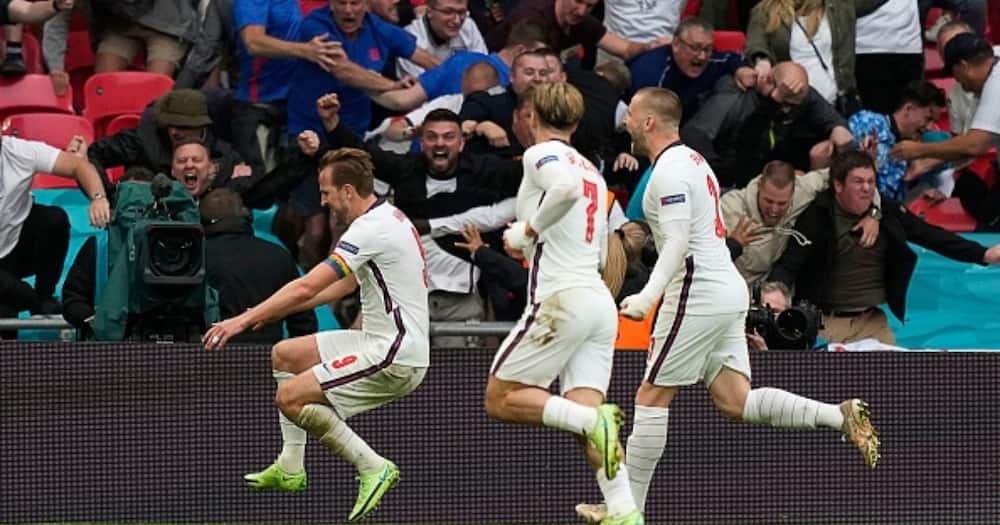 England players celebrate during the Euro 2020. Photo: Getty Images.