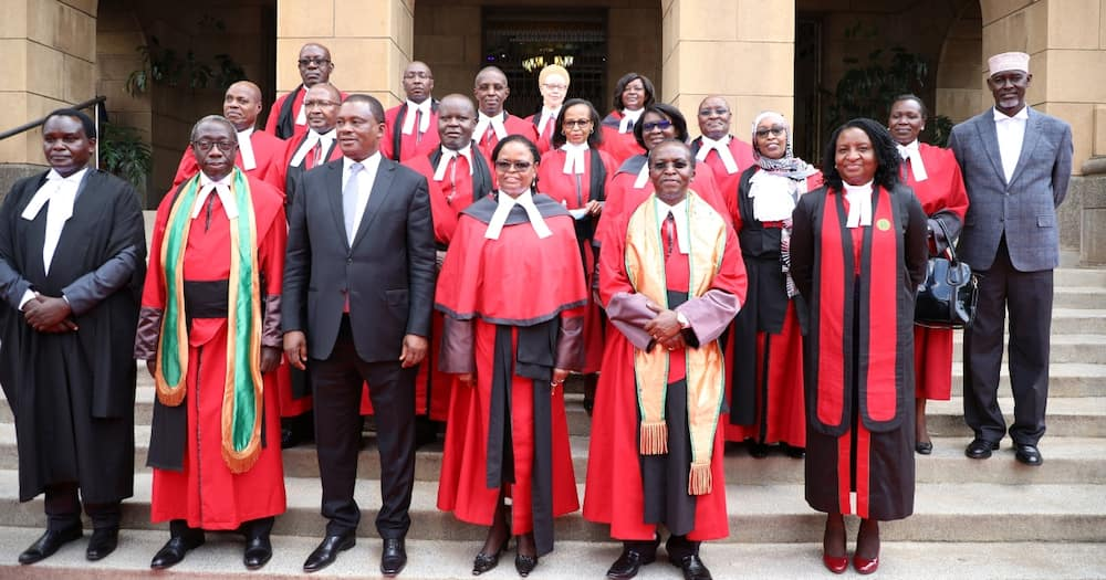 Court of Appeal judges during the swearing-in ceremony of COA President Daniel Musinga.