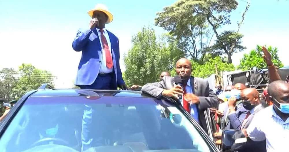 Raila Odinga held meetings with local Nakuru leaders.