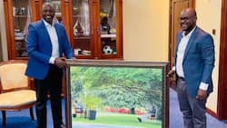 Ugandan State House Gifts William Ruto Beautiful Portrait Capturing Special Moment with Museveni