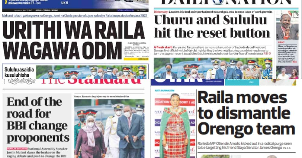 Newspapers Review for May 5: Raila Succession Wars Threatens to Tear Down ODM