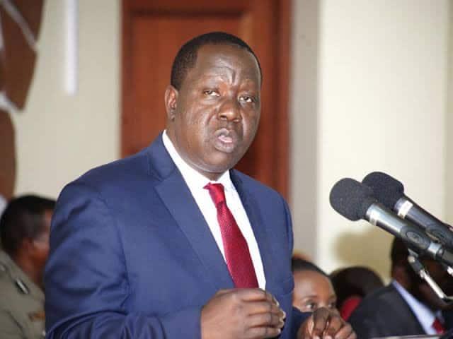Huenda Kisumu, Kaunti Jirani Zikaufungwa Waziri Matiang'i Asema