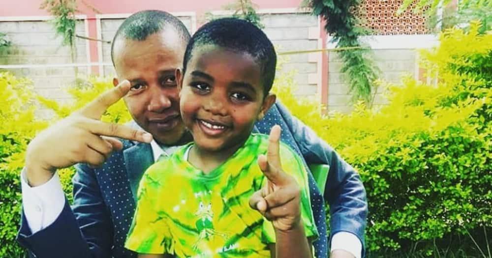 Tahidi High's OJ poses in adorable father-son photo alongside his grown boy