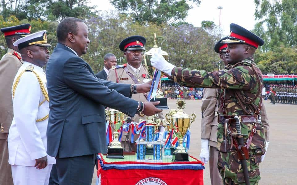 Uhuru impressed by huge number of ladies joining KDF