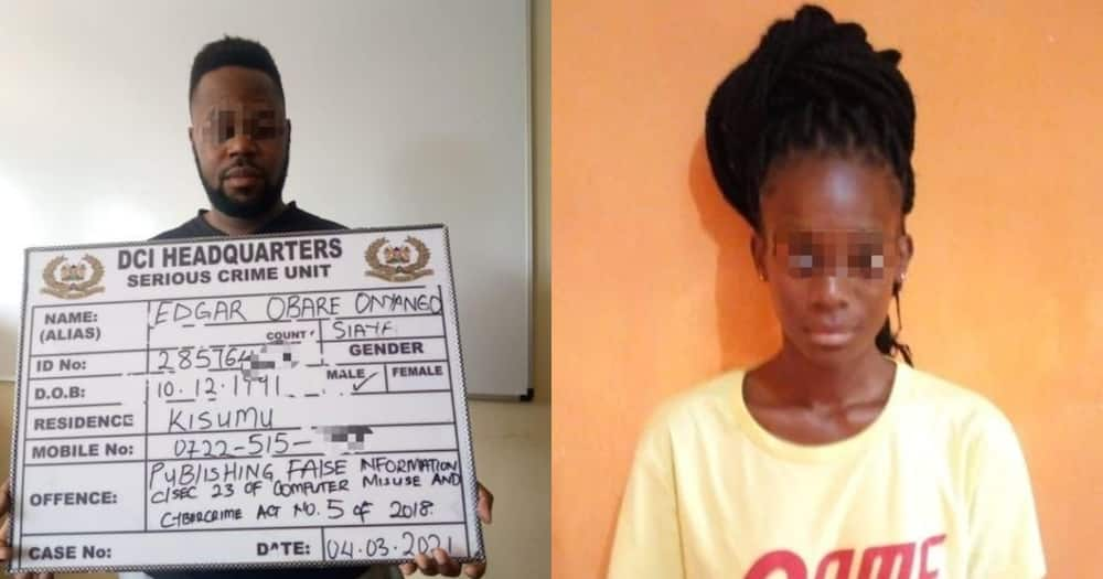 DCI detectives arrest Edgar Obare, woman for attempting to extort KSh 10m from governor