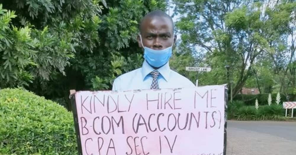 Nairobi Graduate, 29, Begs for Job in Streets After Losing Accountant Position