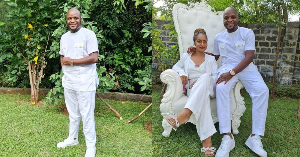 """Jalang'o, Wife Amina Chao Step out in All-White Matching Outfits: """"Jaber is Jaber"""""""