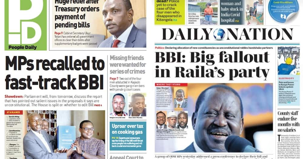 Newspapers Review for April 27: MPs To Hold Special Sittings To Debate Proposed Constitutional Amendments
