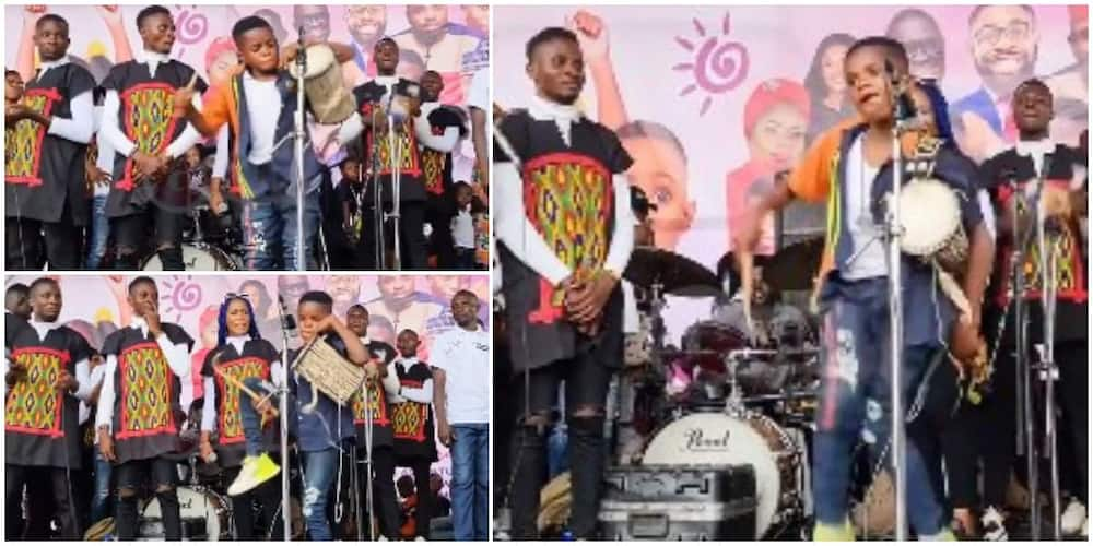 Young Boy Thrills Crowd as He Acrobatically and Creatively Makes Beats with Talking Drum, Video Goes Viral