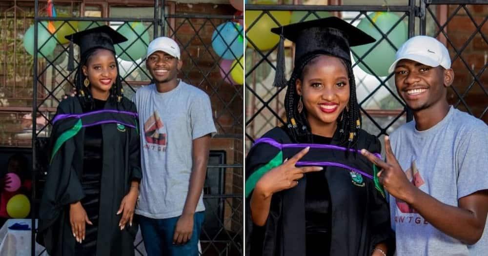 Man posts snaps of mom on graduation, Mzansi doesn't believe him