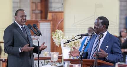My father, Uhuru's father were just hustlers who worked their way up - Raila Odinga