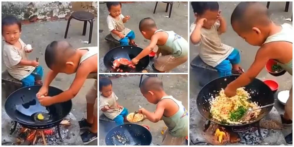 Social media users reacted to a young boy's cooking video showing how good his skills are. Photo: Steak World.