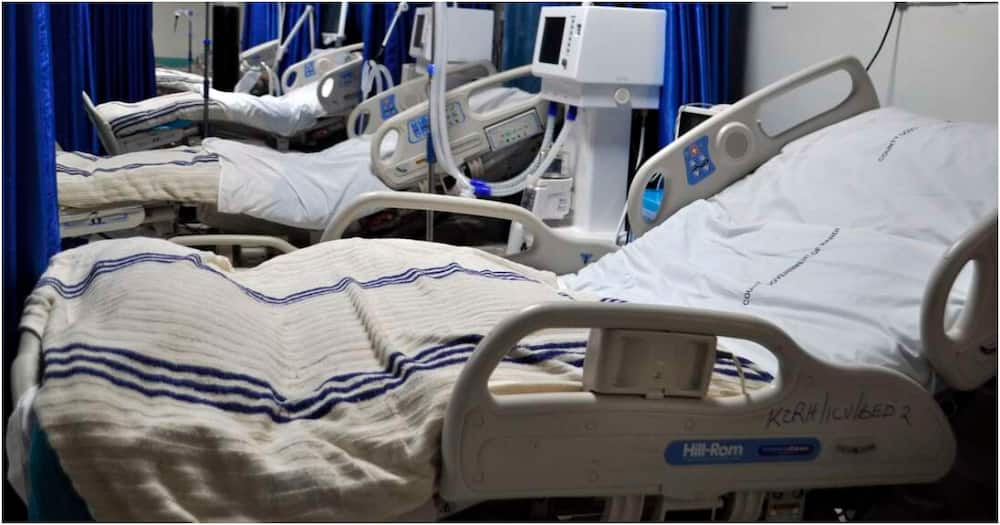 The Nairobi Hospital has 36 ICU beds currently full and charges between KSh 130 000 and KSh 300,000. Photo: KMPDU.