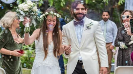 Bride Wears Wedding Gown Fitted with Braille to Help Blind Groom Feel Beauty of Her Dress