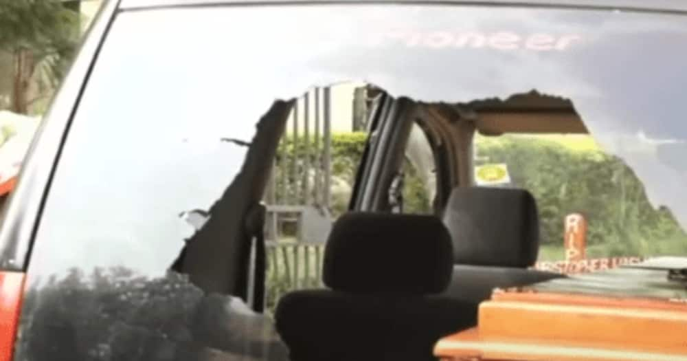 Bungoma: Second wife vandalises hearse in battle for husband's body