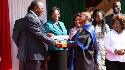Uhuru meets Githeri Man again, awards him after completing rehabilitation