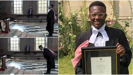 """Man Celebrates as He Bags Master of Law Degree from Cambridge: """"I'm Happy"""""""