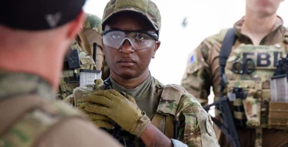 The first FBI black woman to join the SWAT team. Photo; CNN.