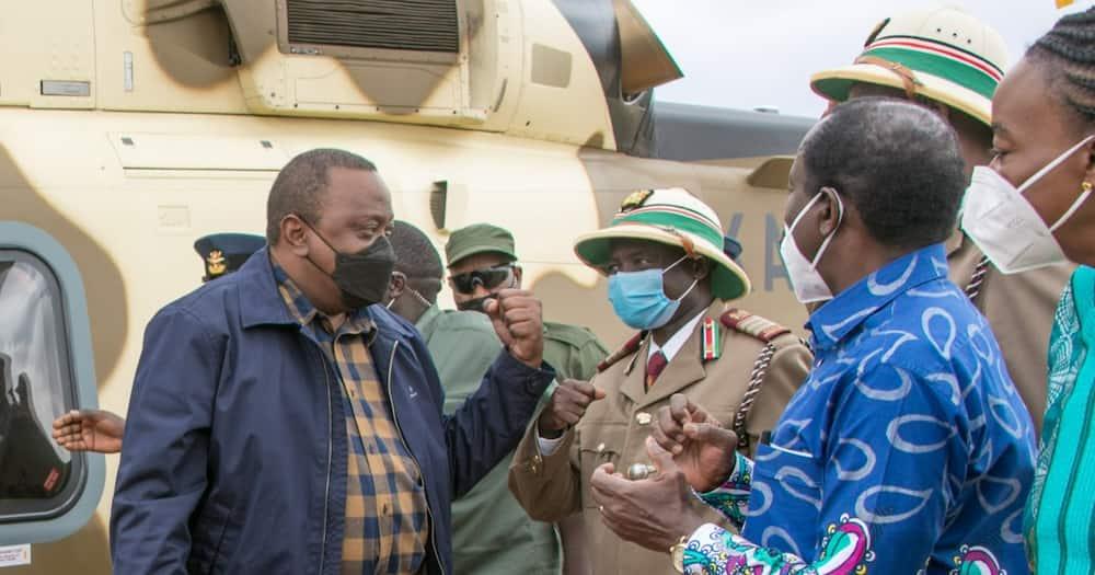 President Uhuru ,Kenyatta (l). Photo: State House, Kenya.