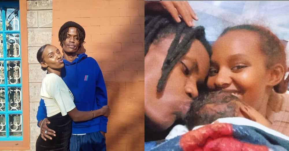 Actor Mungai Mbaya and his girlfriend Aisha.