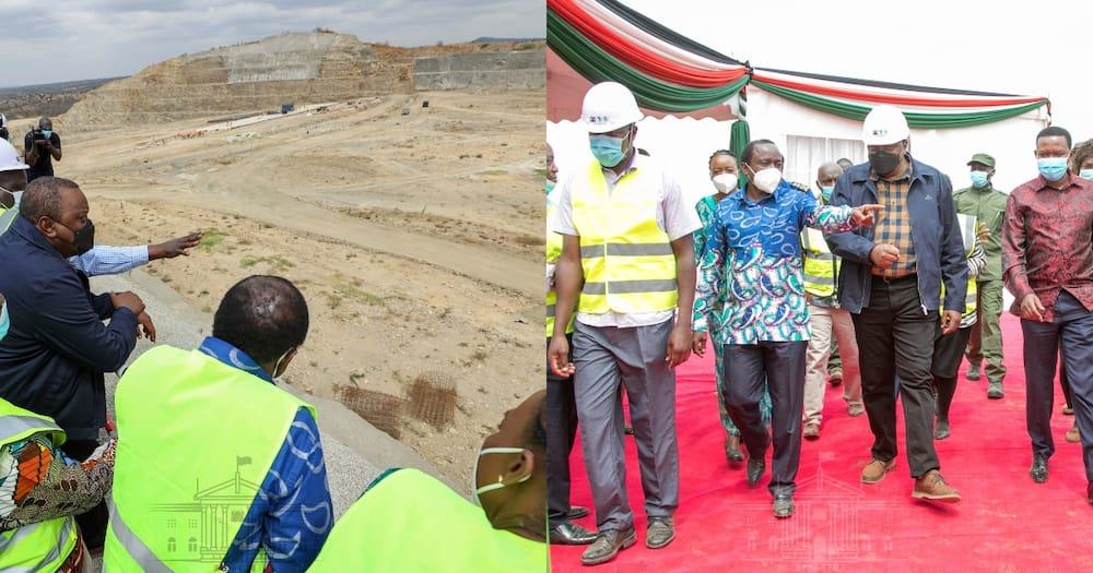 Prersident Uhuru Kenyatta during his tour in Ukambani. Photo: State House Kenya.