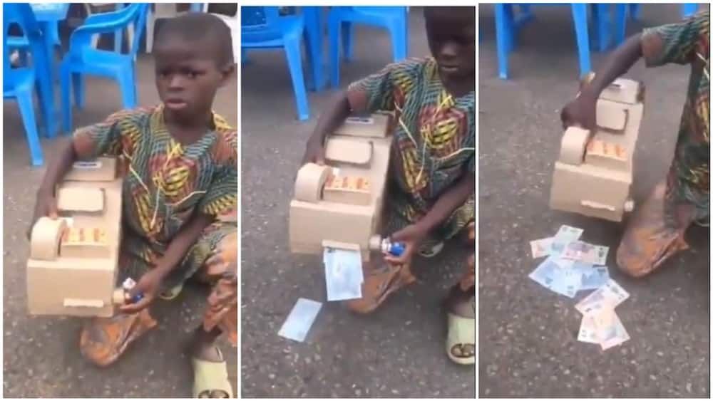 Young Nigerian boy creates his own ATM