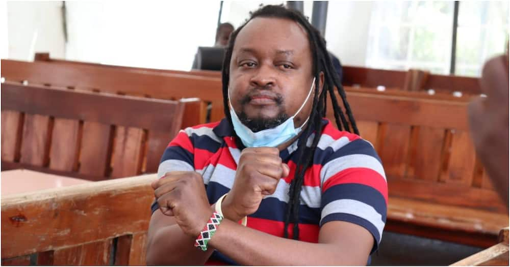 Activist Edwin Mutemi Kiama at a Milimani court. Photo: Boniface Mwangi.