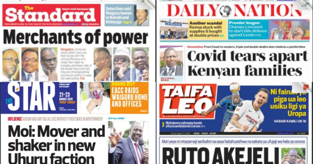 Magazeti Ijumaa: Gideon Moi ageuka mwandani wa Rais Uhuru, apata ushawishi serikalini
