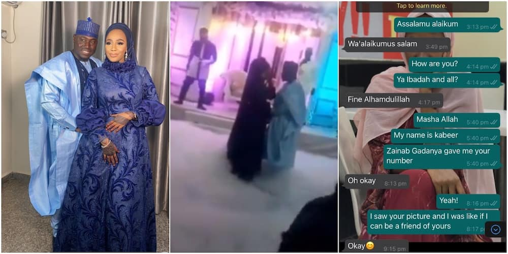 Man weds lady he slid into her DM, shares screenshot of 1st conversation