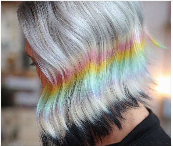 modern green hair