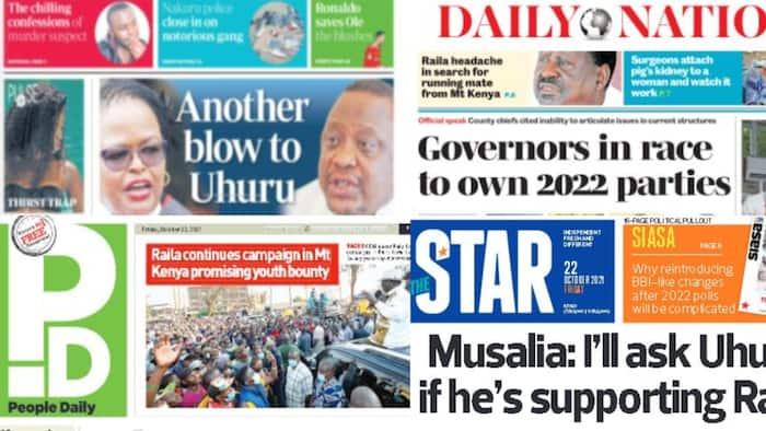 Kenyan Newspapers Review for October 22: Alfred Keter, 3 Other Rift Valley Rebels Troop Back to Ruto's Camp