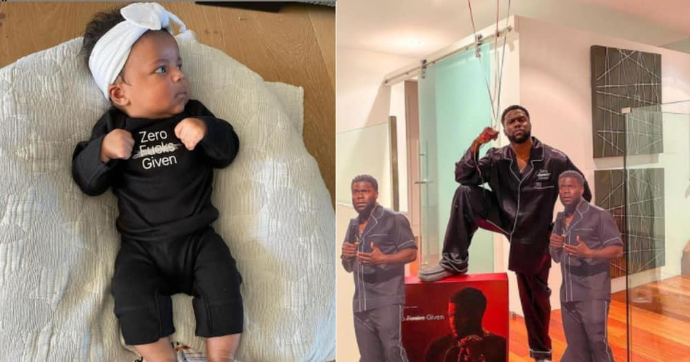 Kevin Hart tells off holier than thou parents who judged his daughter's expressive onesie