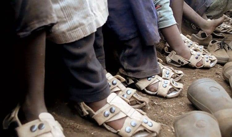 Man invents shoes that grow 5 times to help protect kids' feet