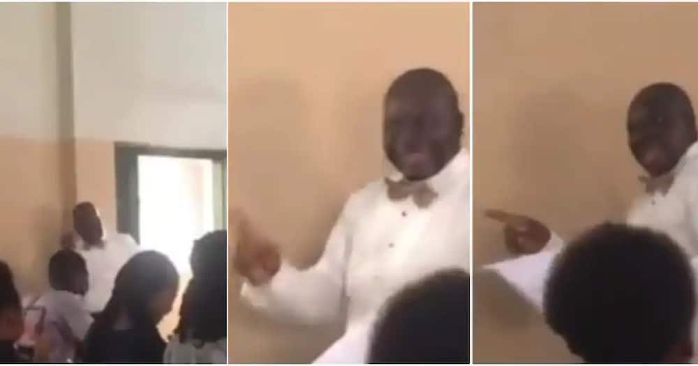 Nigerian Lecturer stuns netizens after a viral video of him singing Rihanna's song in class.
