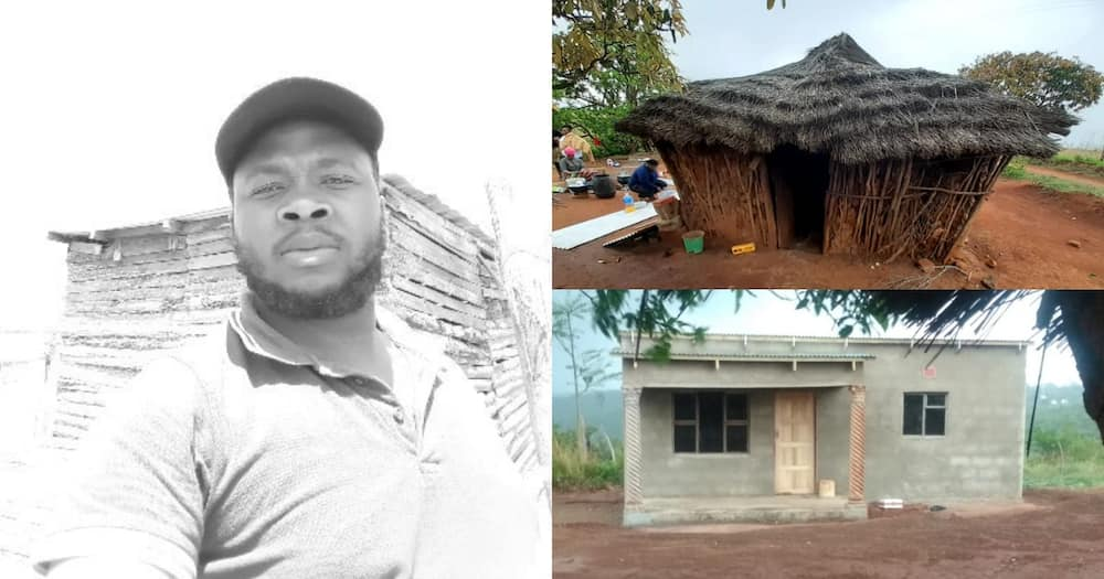 A local man shared a pic of the home he built for a gogo